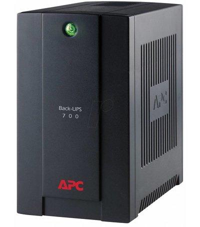 APC Back-UPS 700VA Noodstroomvoeding 4x schuko uitgang, USB