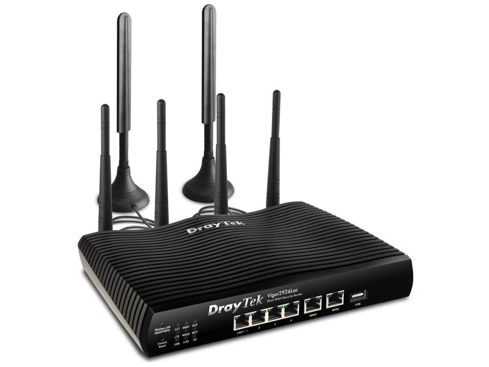 DrayTek Vigor 2926Lac Dual gigabit WAN breedband router 4 gigabit LAN, 2 gigabit WAN