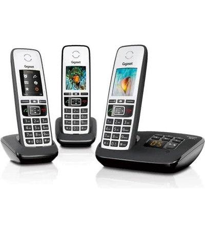 Gigaset A670A TRIO systeem met 3 handsets en antw. app.