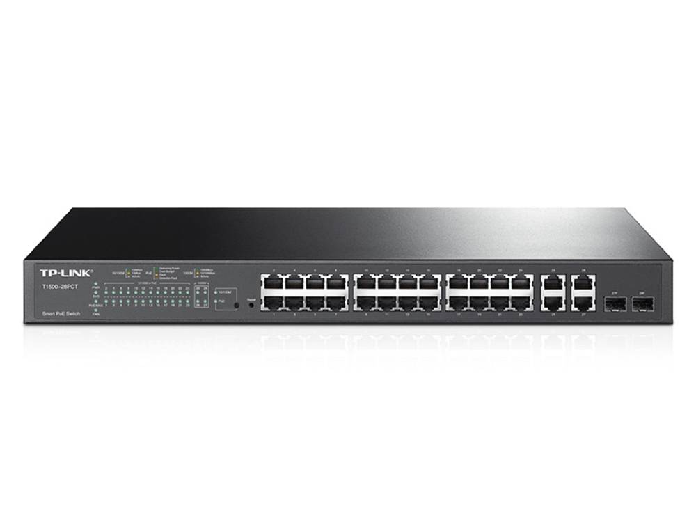 TP-Link T1500-28PCT 24-port 100 Mbps PoE+ Smart 180W