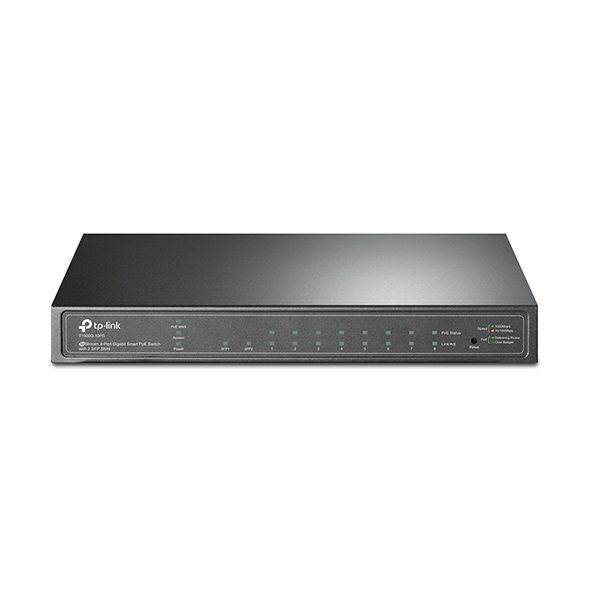 TP-Link T1500G-10PS 8-port GB PoE Smart 2xSFP 53W