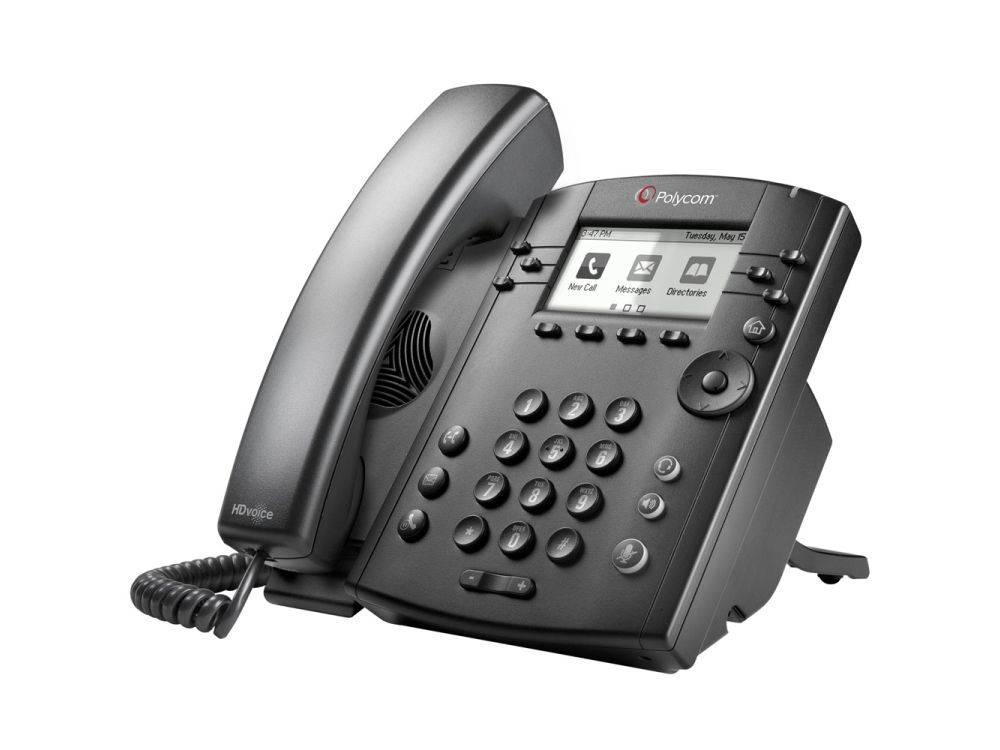 Polycom VVX 301 6-line Desktop Phone with HD Voice