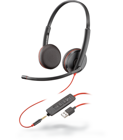 Plantronics BLACKWIRE C3225 USB-A SINGLE UNIT