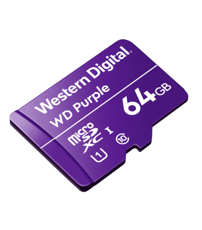 Western Digital 64GB Western Digital Purple Surveillance microSDXC
