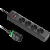 APC stekker omlijsting 4x CEE 7/3 10A IEC C14 verriegeelar