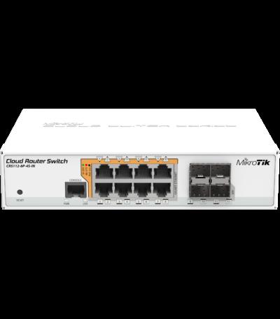 MikroTik CRS112-8P-4S-IN Gigabit 8 port PoE switch+4 SFP