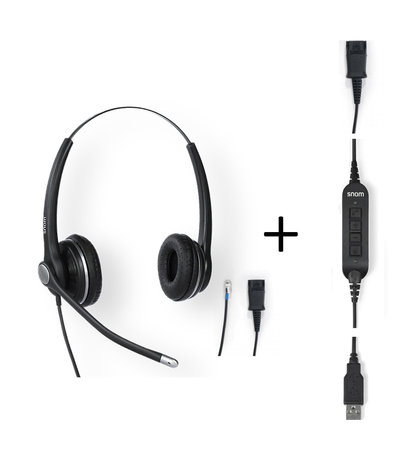 Snom A100D Duo Headset for USB / Deskphone