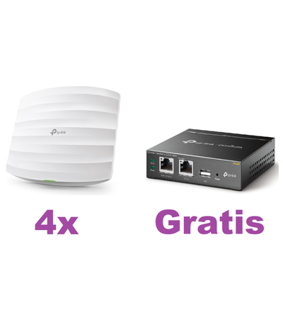 TP-Link 4x EAP245 Access Point + OC200 Cloud Controller Bundel