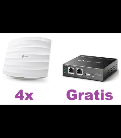 TP-Link 4x EAP225 Access Point + OC200 Cloud Controller Bundel