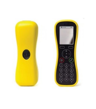 POLY 10 Handset Soft Cover. Yellow KIRK Butterfly w/BeltClip Cnct