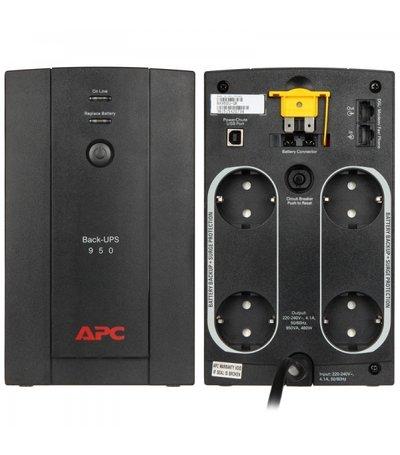 APC Back-UPS 950VA Noodstroomvoeding 4x schuko uitgang, USB-DEMO