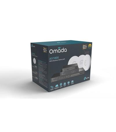 TP-Link Omada Wifi 6 Starter Pack 3x EAP660 + OC300 + TL-ER7206 + TL-SG3210XHP-M2