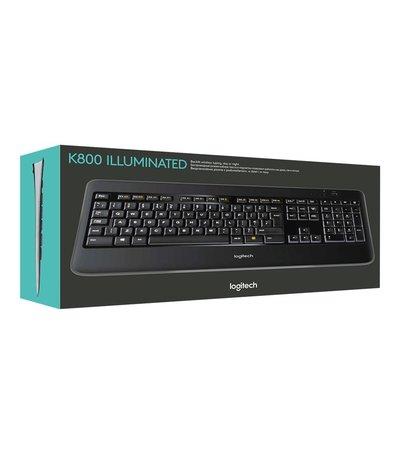 Logitech KB K800 Illuminated Zwart draadloos Retail