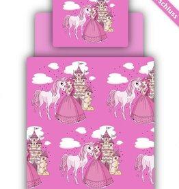Beddengoed incl. hoeslaken - opdruk prinses pink