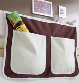 Bedtas voor (half)hoogslapers en stapelbedden - bruin-beige