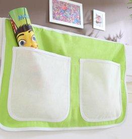 Bedtas voor (half)hoogslapers en stapelbedden - beige-groen