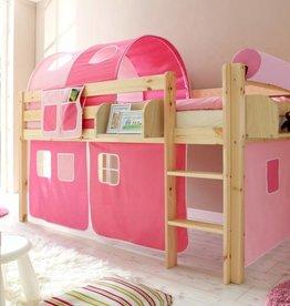 Halfhoogslaper Malte - grenen - roze-pink
