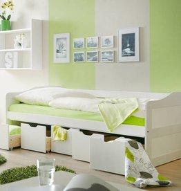 Slaapbank Maria met opbergruimte - wit gelakt - grenen