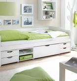 Slaapbank Marlies met opbergruimte - wit gelakt - massief grenen - ligoppervlakte 90x200cm