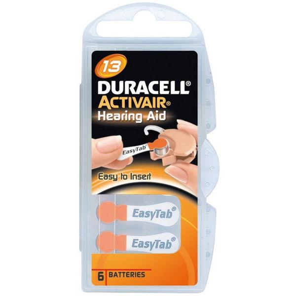 Hoorapparaat batterij DA13 oranje (6 stuks)
