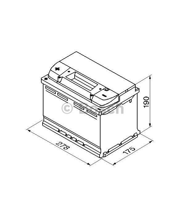 Bosch Auto accu 12 volt 74 ah Type S4009 + links