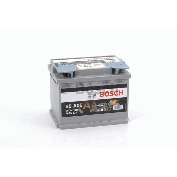 S5A05 AGM start accu 12 volt 60 ah