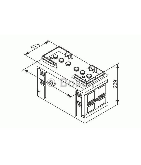 Bosch Startaccu 12 volt 90 ah T3 030 Black truckline