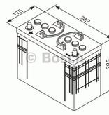 Bosch Startaccu 12 volt 125 ah T3 041 Black truckline