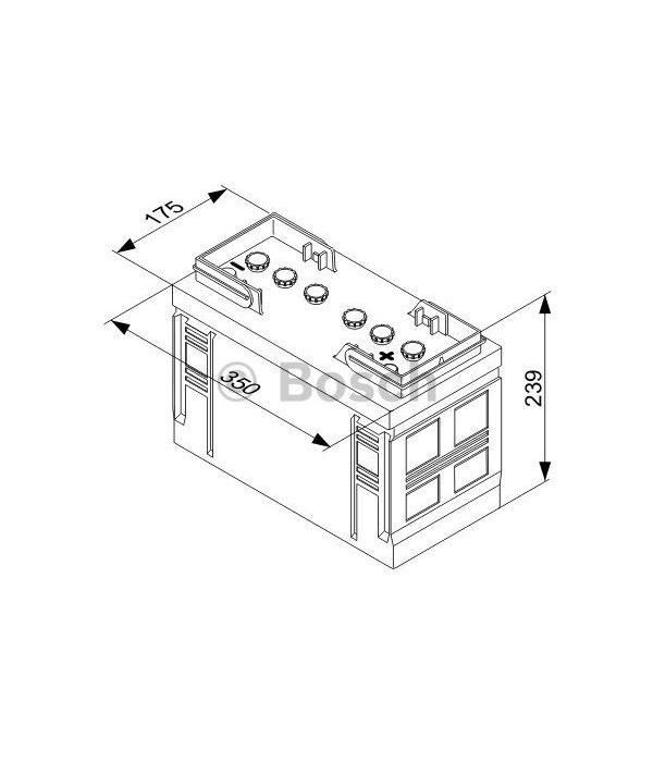 Bosch Startaccu 12 volt 110 ah T3 035 Black truckline