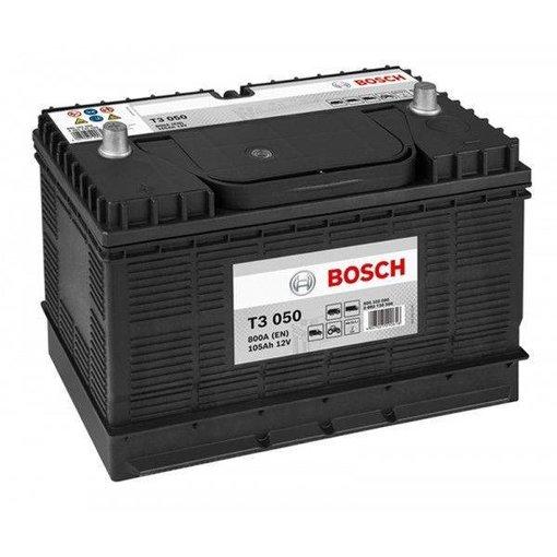 Bosch Accu 12 volt 105 ah T3050 Black truckline
