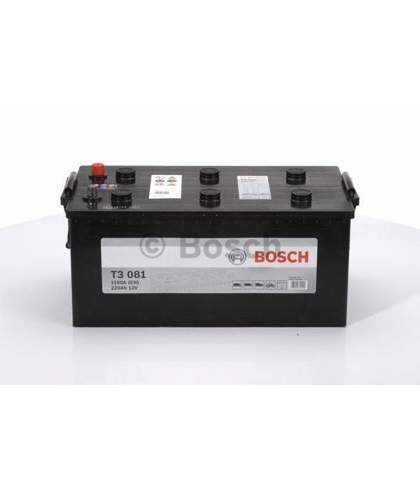 Bosch Startaccu 12 volt 220 ah T3 081 Black truckline