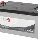Dynac accu AGM Semi tractie 12 volt 220 ah