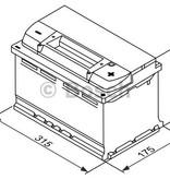 Bosch Accu EFB start-stop 12 volt 75 ah Type S4 E10