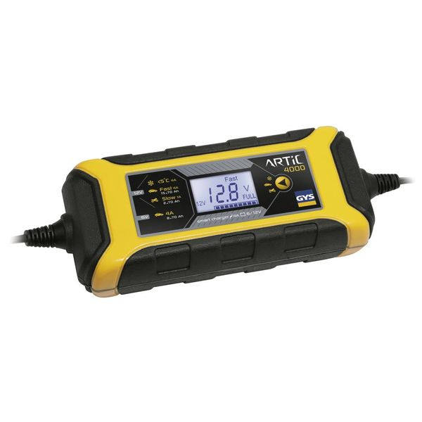 ARTIC 4000  intelligente acculader 6V/12V - 4A (waterdicht)