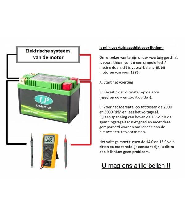 LFP7Z 12 volt 28,8 Wh Lithium LiFePO4 accu