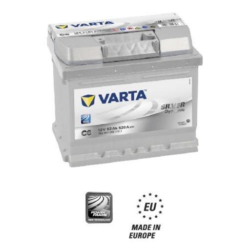 Varta Auto accu 12 volt 52 Ah Silver Dynamic 552 401 052 type C6