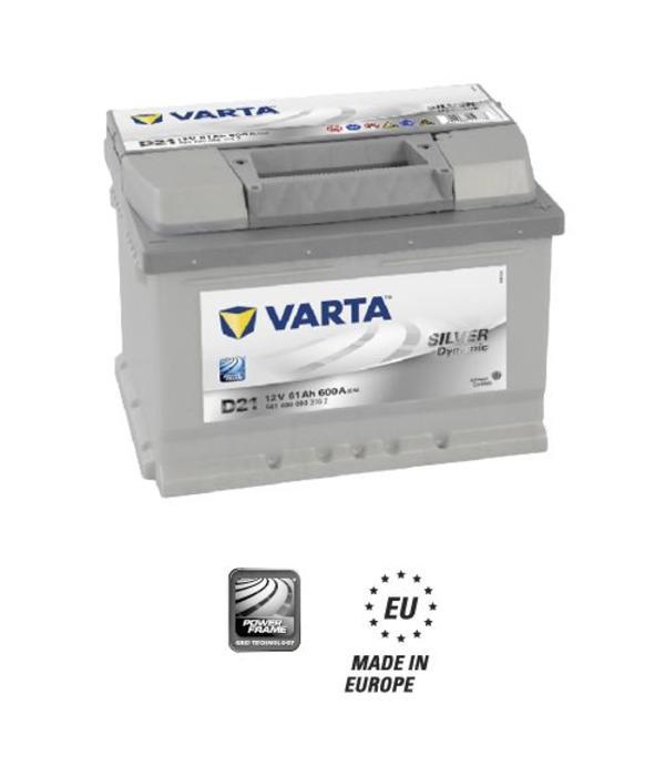 Varta Auto accu 12 volt 61 Ah Silver Dynamic type D21