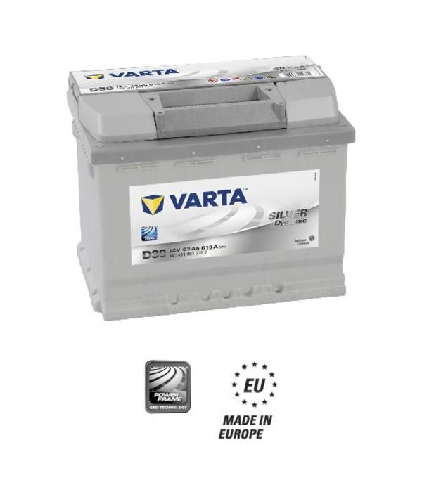 Varta Auto accu 12 volt 63 Ah Silver Dynamic type D39