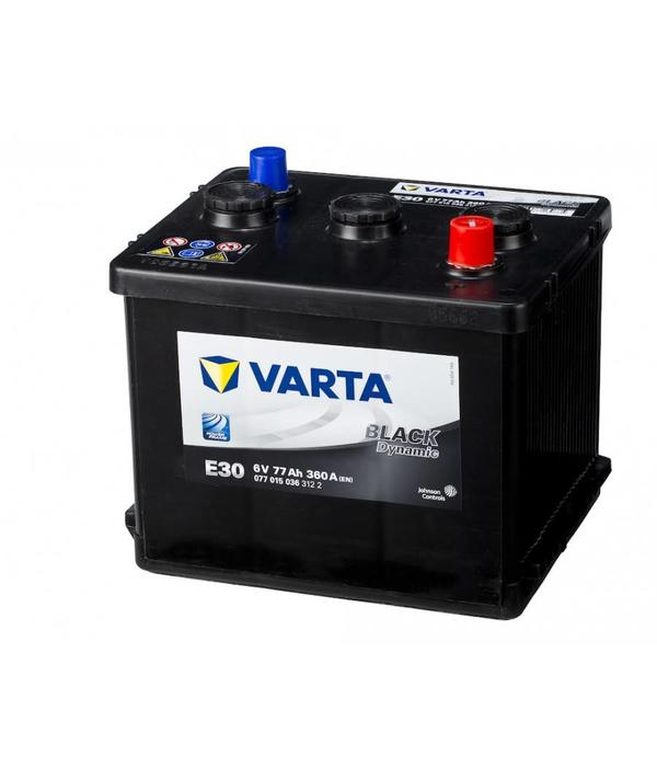 Varta E30w Classic auto accu 6 volt 77 ah type 077 015 036