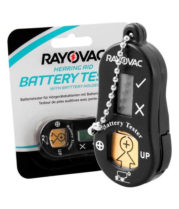 Rayovac batterijtester / sleutelhanger gehoorbatterijen