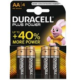 Duracell Batterij Plus Power Duralock AA/LR6 blister 4
