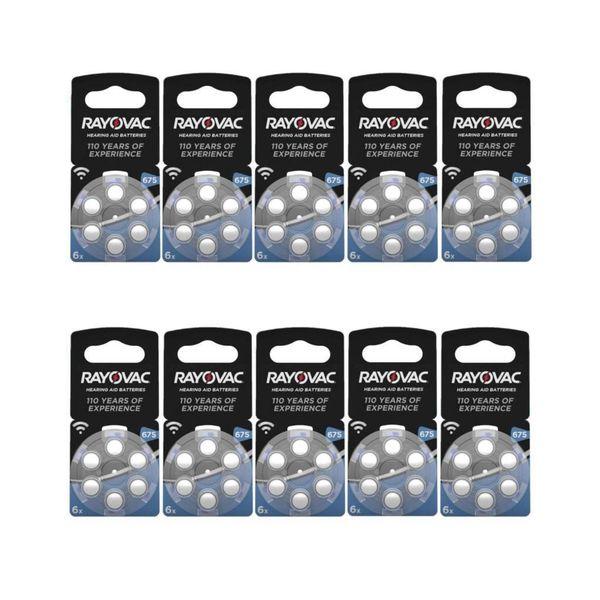 Hoorbatterij Acoustic Hearing 675AU blauw (60 stuks)