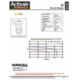 Duracell Hoorapparaat batterij DA10 geel (6 stuks)