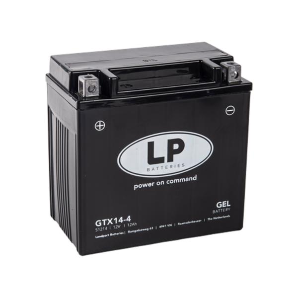 GTX14-4 motor GEL accu 12 volt 12 ah (GTX14-BS)