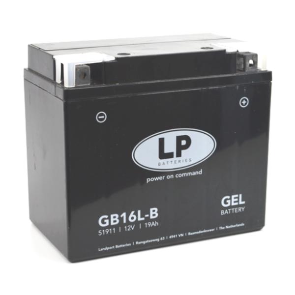 GB16L-B motor GEL accu 12 volt 19 ah