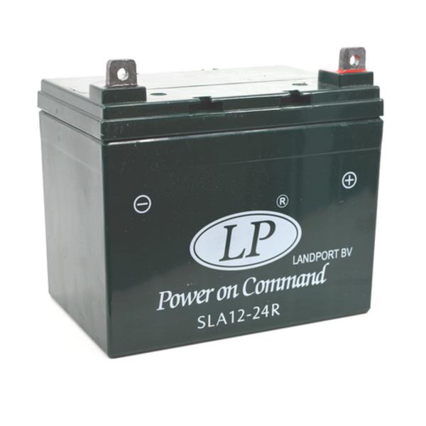 SLA 12-24R motor / grasmaaier accu 12 volt 24 ah