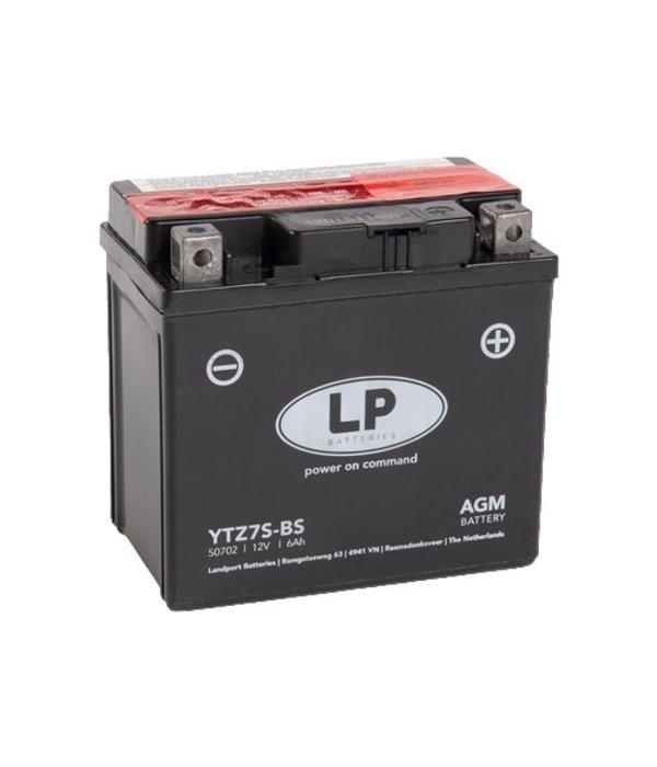 YTZ7S-BS 12 volt 6,0 ah AGM motor accu