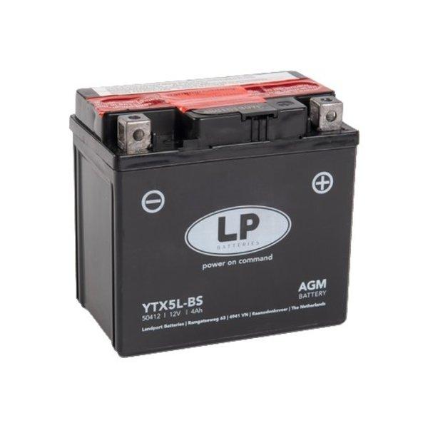 YTX5L-BS 12 volt 4 ah AGM motor accu
