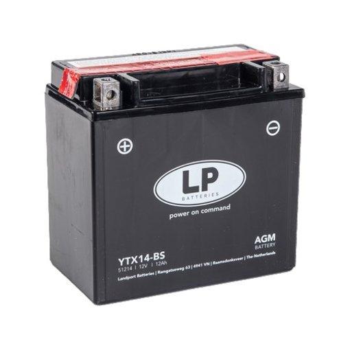 YTX14-BS 12 volt 12 ah AGM motor accu