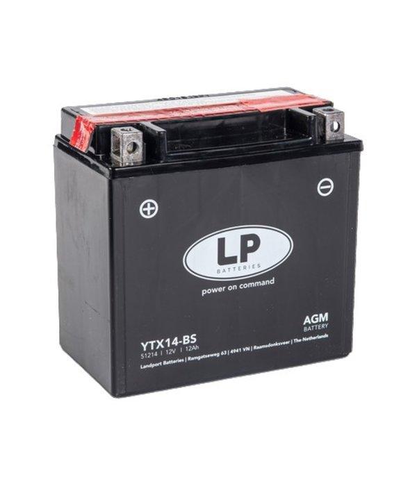 YTX14-BS 12 volt 12,0 ah AGM motor accu